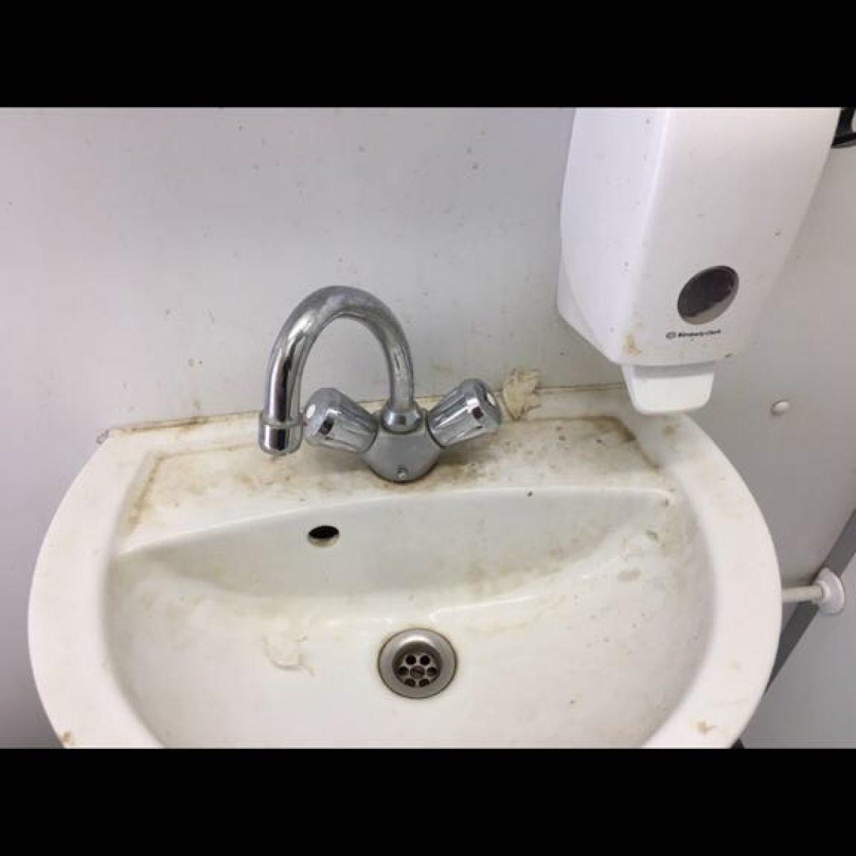 Waschbecken - Vorher